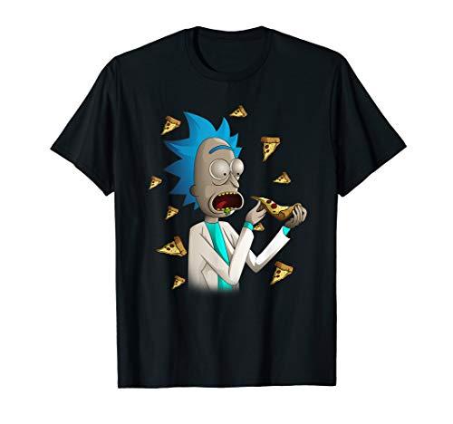 Rick and Morty Shirt Rick Loves Pizza T-Shirt T-Shirt