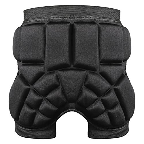 KAMEUN Pantalones protectores 3D de EVA acolchados, para snowboard, equipo de protección transpirable, para patinaje, esquí, patinaje, snowboard, ciclismo
