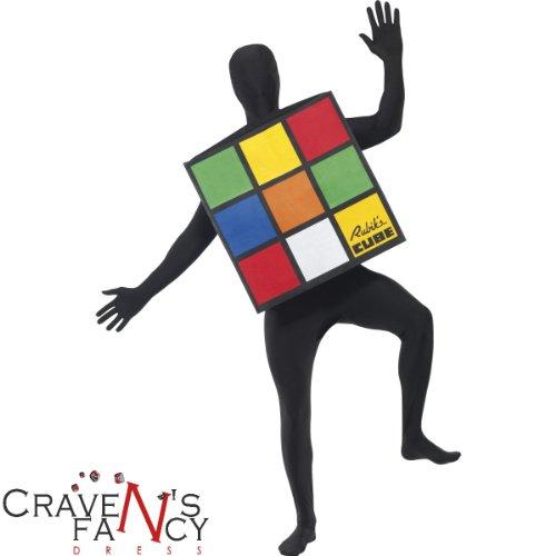Fancy Dress To Impress - Costume da cubo di Rubik per adulti, taglia unica