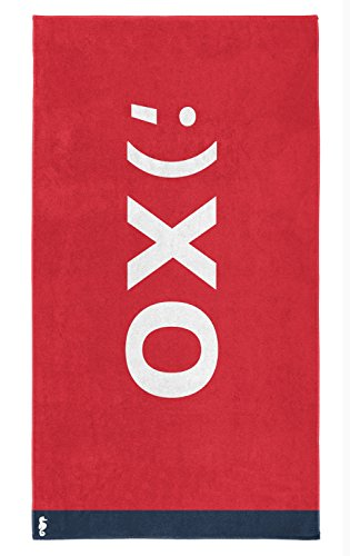 Fashion XXL Strandtuch Saunatuch Strandlaken XO red 100 x 180 cm von Seahorse
