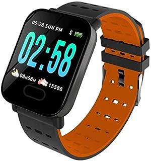 Kingboss Olix A6 Sport Smart Watch Akıllı Saat Su Geçirmez, Tansiyon ve Nabız Ölçer, Uyku Takip (TURUNCU)