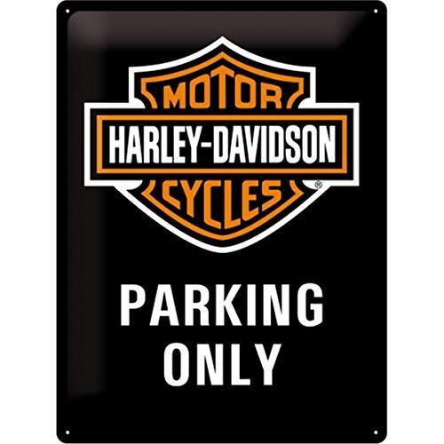 Nostalgic-Art 23130 Harley-Davidson Parking Only, Blechschild, 30 x 40 cm