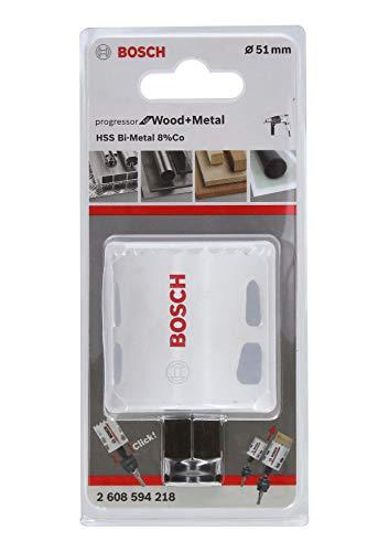 Bosch Professional Lochsäge Progressor for Wood & Metal (Holz und Metall, Ø 51 mm, Zubehör Bohrmaschine)