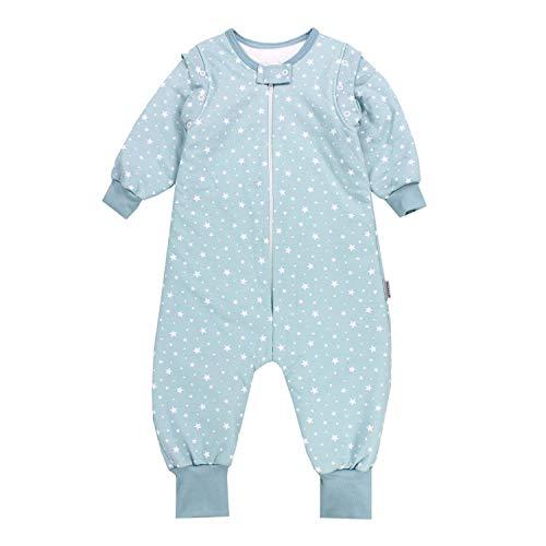 TupTam Baby Unisex Schlafsack mit Beinen und Ärmel Winter, Farbe: Sterne Mintgrün, Größe: 104-110