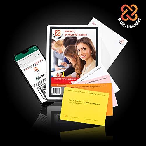 Lernkarten (465 Stück, gedruckt A7) + App + Box für Wirtschaftsbezogene Qualifikationen IHK | Stand: November 2020 | Komplettsatz mit allen 4 Fächern WBQ