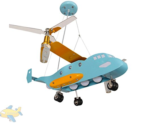 DGF Creative Helicopter Chandelier Personality Boy Girl Bedroom Cartoon Decorative Light E27 Light Port ( Color : With 40W LED warm light )