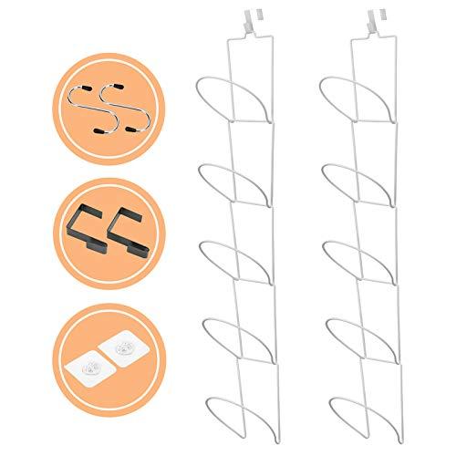 Livememory - Soporte para sombreros de béisbol, organizador para puerta, pared, armario, baño, juego de 2 – 10 piezas (blanco)