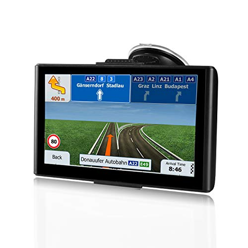 GPS Navigation for Car,7-inch Car GPS 8GB HD GPS Navigator,Free Update Map,Voice Broadcast Function, Driving Alert