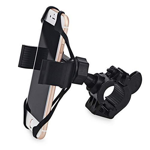 iSpchen Soporte Para Teléfono Móvil Para Bicicleta, Soporte Para Teléfono Móvil Con Manillar Ajustable Giratorio de 360 ° Para Gps, Soporte Para Bicicleta Para Teléfono Inteligente de 5.5-8.5cm