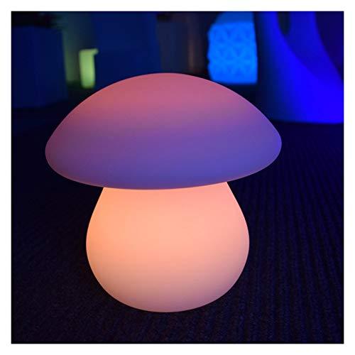 Portaghiaccio Lampada da tavolo luminosa a LED Lampada da letto Lampada da letto Lampada da letto notturno Telecomando Telecomando Carica Tavolo da tavola Variopinta Lampada a fungo decorativa colorat