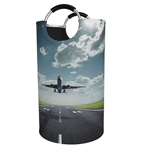 N\A Cesta de lavandería Grande de 82 l, cesto de lavandería de Tela Plegable de Baiyun con Salida de avión, Bolsa de Ropa Plegable, Cesta de Almacenamiento Plegable