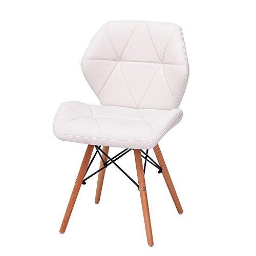 G-Y Sofa Paresseux, Chaises D'ordinateur Modernes Simples, Chaises De Bureau En Bois Solide, Dinette (Couleur : Blanc)
