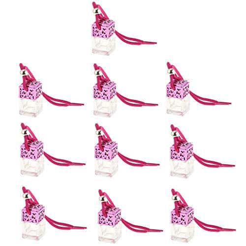 Homyl Bouteille de Parfum Suspendue de Voiture Pendentif D'huile Essentielle - 10x