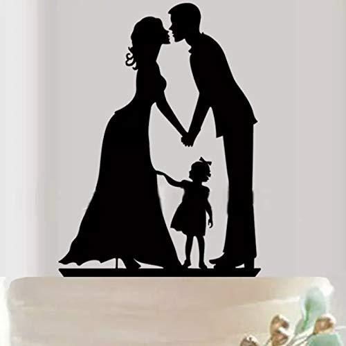 Mentor Interactive Cake Topper Estatuto para tartas HochZEITS Silueta boda con niñas con lazo H 12,5 x 11 cm