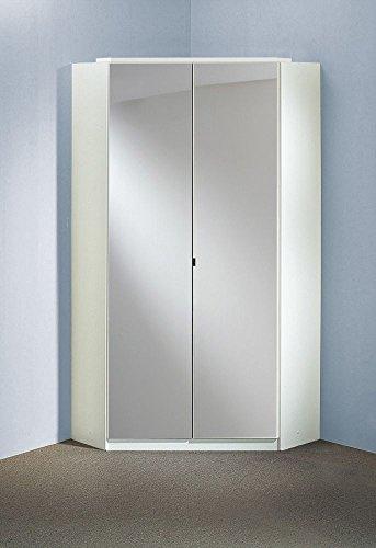 Beauty.Scouts Eck-Kleiderschrank Boca rinco Mirror Spiegelschrank, Hochglanz schwarz, weiß, 120x120cm