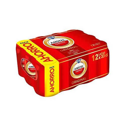 Bier Amstel Original 12x33cl (Pack 12 Dosen)