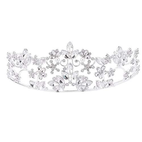 Lurrose - Tiara de perlas de imitación para novia, joyería de cristal,...