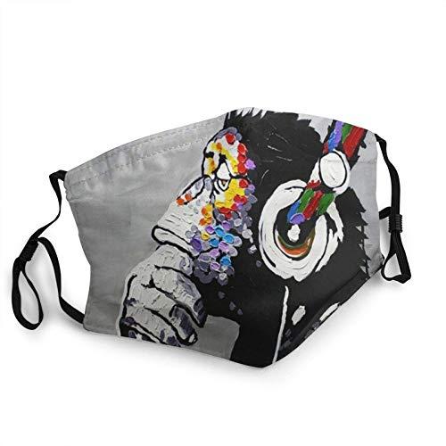 Gorila Escuchar música Moda Bufandas impermeables con 2 filtros para...