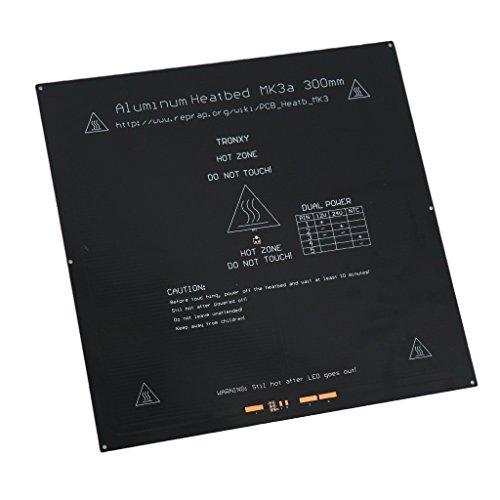 Baoblaze 330x330x3mm Heiz Bett aus Aluminiumlegierung für 3D Drucker Leiterplatte- 1 Stk.