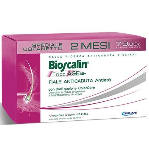 Bioscalin TricoAGE 45 + 20 Fiale Anticaduta Donna Trattamento Completo 2 Mesi