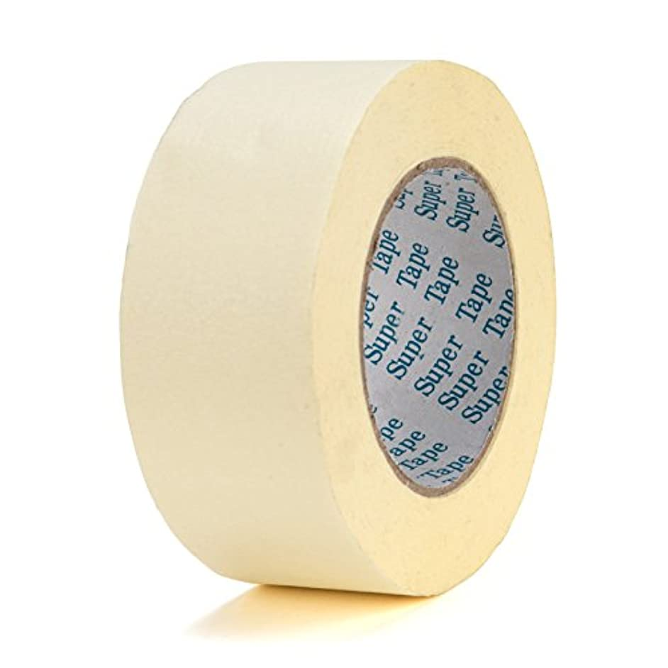 Chu's Packaging Supplies TI740M1H60,Super Mask, Masking Crepe Paper Masking Tape, 5.5 Mil, 36mm x 60 Yards, Natural Color (Case of 24 Rolls)