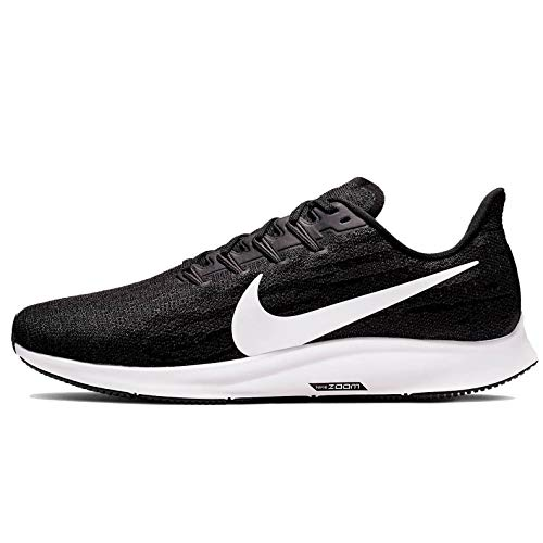 Nike Air Zoom Pegasus 36 (Wide) Men's Running Shoe Black/White-Thunder Grey Size 10.5