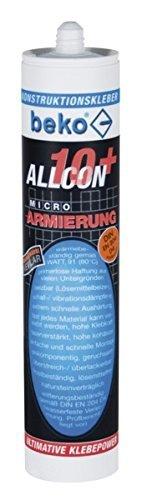 BEKO 265100310 Allcon 10+ Konstruktionsklebstoff 310 ml, Farblos