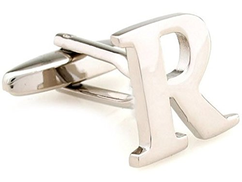 TEROON Cufflinks Lettre initiale 'R' [Bouton - NON paire]