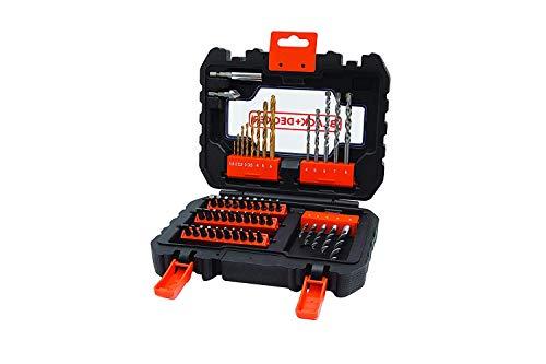 Black+Decker A7232-XJ A7232-XJ-Juego atornillar y taladrar, 0 W, 0 V, Set de 50 Piezas
