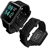 Th-some Correa para Amazfit Bip Impermeable Universal - Reemplazo de Pulsera Deportivo Ajustable para Huami Amazfit Bip bit Lite Youth/Amazfit GTR 42mm Watch, Sin Tracker (Negro clásico)