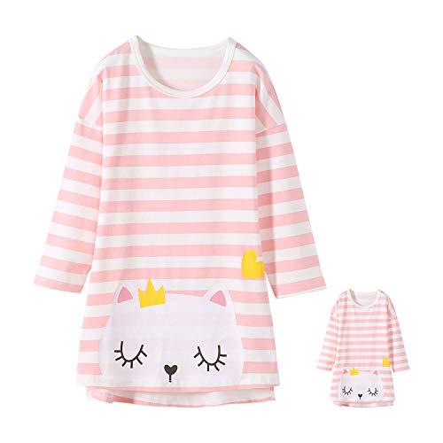 Allmeingeld Chemise de nuit princesse pour fille à manches courtes pyjama pour enfants de 3 à 14...