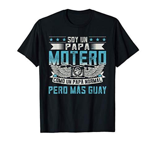 Hombre Soy Un Papá Motero Como Un Papá Normal Pero Màs Guay Camiseta