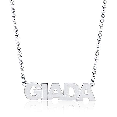 GioiaPura Collana con Nome Giada in Stampatello Argento Trendy cod. GYXCAR0072-24