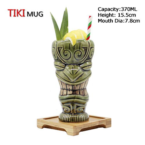 ZKGHJOKZ Tiki Boccale Tazza Bicchieri Tiki Bicchieri da Cocktail in Ceramica Tiki - Bicchieri Tiki Bar Professionali - Bicchieri da Party Hawaiani