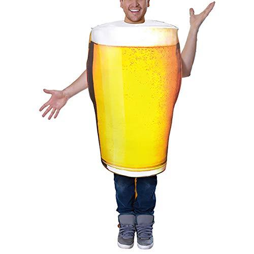 Feynman Adultos Disfraz Jarra de Cerveza para Fiesta de Halloween Juegos de rol Cosplay