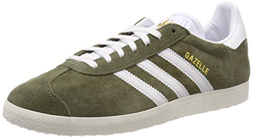 adidas Damen Gazelle W Gymnastikschuhe, Grün (Raw Khaki/FTWR Chalk White), 43 1/3 EU (9 UK)