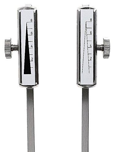 Riester 5175 Stimmgabel Rydel-Seiffer mit Fuß, Stahl, Gewichte verstellbar in Polybeutel, C 64 Hz/c 128 Hz