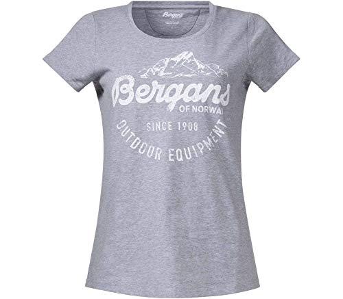 Bergans Classic - T-Shirt Manches Courtes Femme - Gris Modèle M 2019 Tshirt Manches Courtes