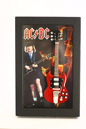 RGM8800 Angus Young ACDC Miniatur Guitar Collection in Shadowbox Frame