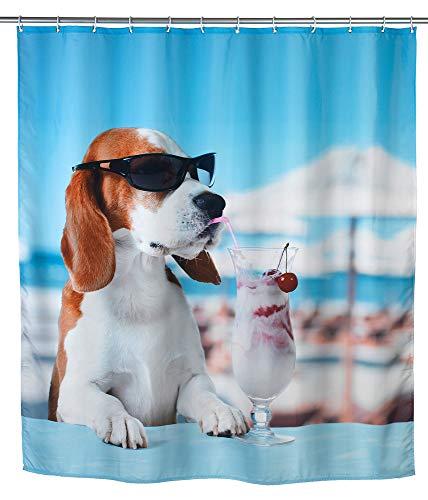WENKO Duschvorhang Cool Dog Vorhang Vorhänge Dusch-Vorhänge Wannenvorhang