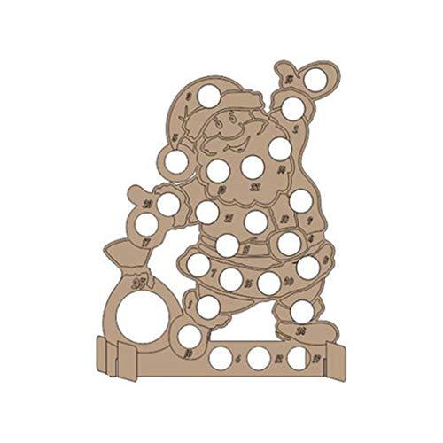 Sqiuxia Holz-Adventskalender, hohl, Countdown-Weihnachtsbaum, Elch Schokoladenständer, Holz-Weihnachtsdekoration, 8 Muster optional, 02, app.40x30cm/15.75x11.81in