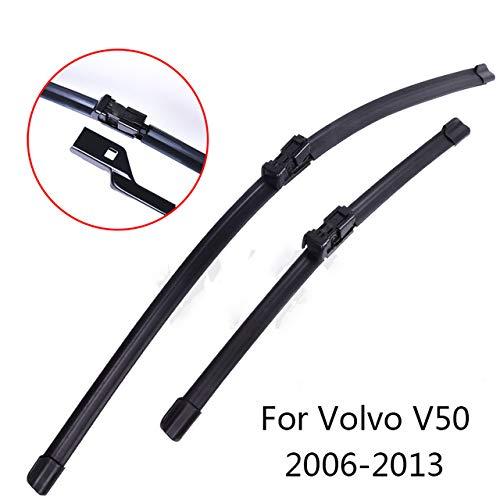 Liliguan ruitenwissers voor Volvo V50 2004 2005 2006 2007 2008 tot 2013 zachte rubberen ruitenwisserbladen