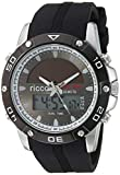 Men's Solar Business Watch SBW3 LED/Quartz Combo with Black Silicone Band by ricco power