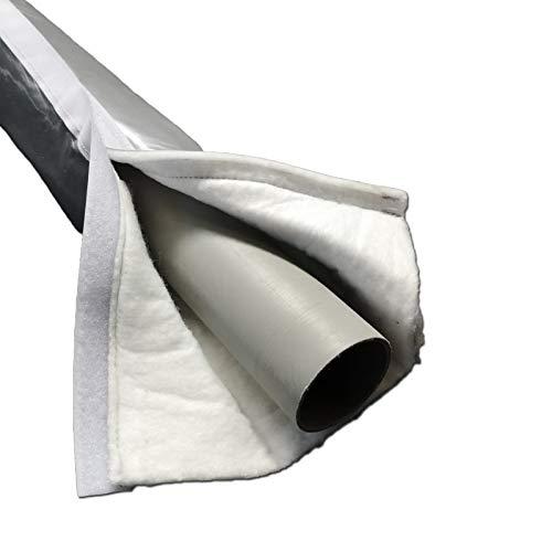 Vlies Schutzschlauch Silent Klett 110 x 9 mm Rolle 5m selbstklebend mit Klettverschluss Isolierschlauch Rohrisolierung