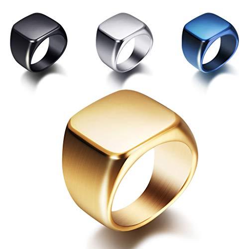Ring simpelweg zwart glanzend titanium stalen ring roestvrij staal mannen en vrouwen roségoud ring