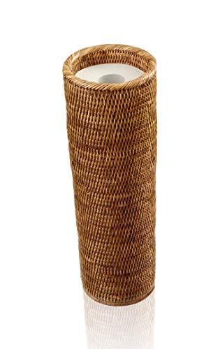 Decor Walther Ersatzrollenhalter für WC-Papier, Rattan dunkel, Basket ERH