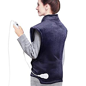 Homech Heating Pads for Back Pain and Cramps, 35 x 27 Inch Electric Heating Wrap for Neck and Shoulders, Dry & Moist…