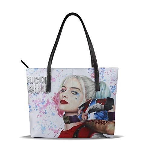 Har-Ley Qu-Inn Damen Mikrofaser Leder Große Tragetasche Umhängetasche Handtaschen Hobo Geldbörse - Reißverschluss für Geschäftsreisen Shopping Party