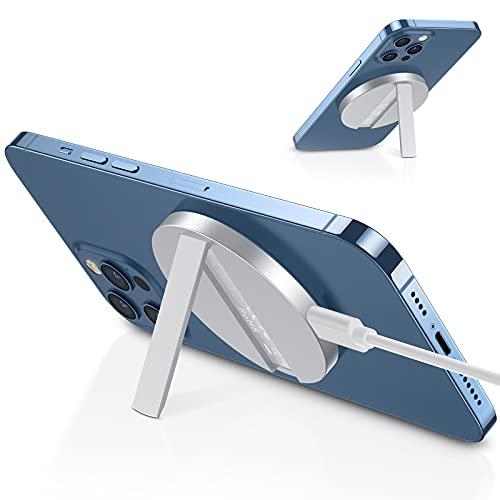 ESR HaloLock Kabelloses Ständer Ladegerät, Kompatibel mit MagSafe/iPhone 13/13 Pro/13 mini/13 Pro Max/12/12 mini/12 Pro/12 Pro Max/Magnetischer Hülle, 1,5m USB-C Schnellladekabel, Kein Adapter, Weiß
