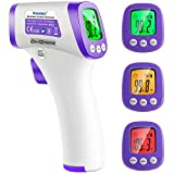 Infrared Forehead Thermometer, Non-Contact Forehead Thermometer for Adults, Kids, Baby, Accurate Instant Readings No Touch Infrared Thermometer with 3 in 1 Digital LCD Display for Face, Ear, Body